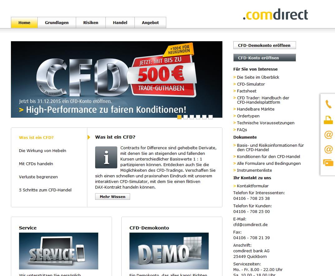 Comdirect Bietet Bis Zu 500 Trade Guthaben Für Cfd Kontoeröffnung