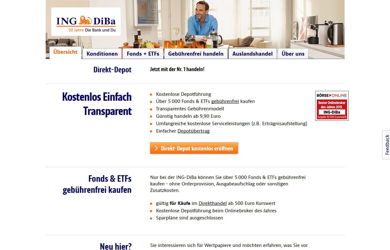 Ing Diba Depotgebühren