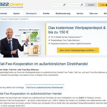 1822direkt lockt noch bis zum 30. Juni 2017 mit Flat-Fee Angebot im außerbörslichen Handel