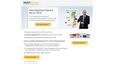 1822direkt verlängert Aktion zum kostenlosen Depot bis 31. August 2017