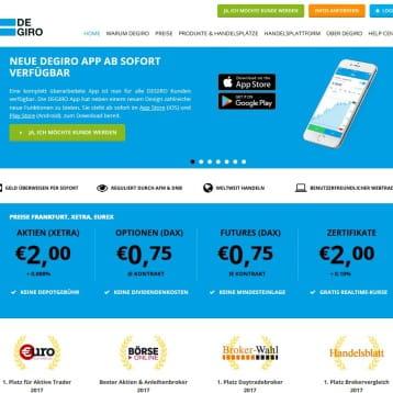 DEGIRO wirbt 2017 mit Xetra Handel ab 2 Euro + 0,008% Gebühren