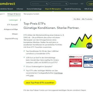 comdirect Bank wirbt mit 0 Euro Ausgabeaufschlag auf Fonds innerhalb der Aktion