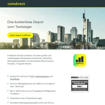 comdirect wirbt mit Anlagemix fest & fonds – Festgeld sowie Fondsanlagen miteinander kombinieren