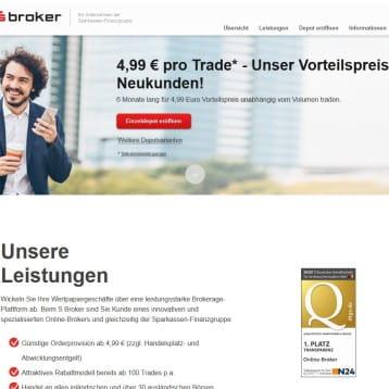 Neukunden Aktion bei S Broker – Tradepreis für Neukunden auf  4,99 Euro festgelegt