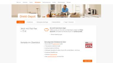 ING-DiBa bewirbt Direkt-Depot: 75 Euro Gutschrift und Flat-Fee für den Handel bis 30. November 2017